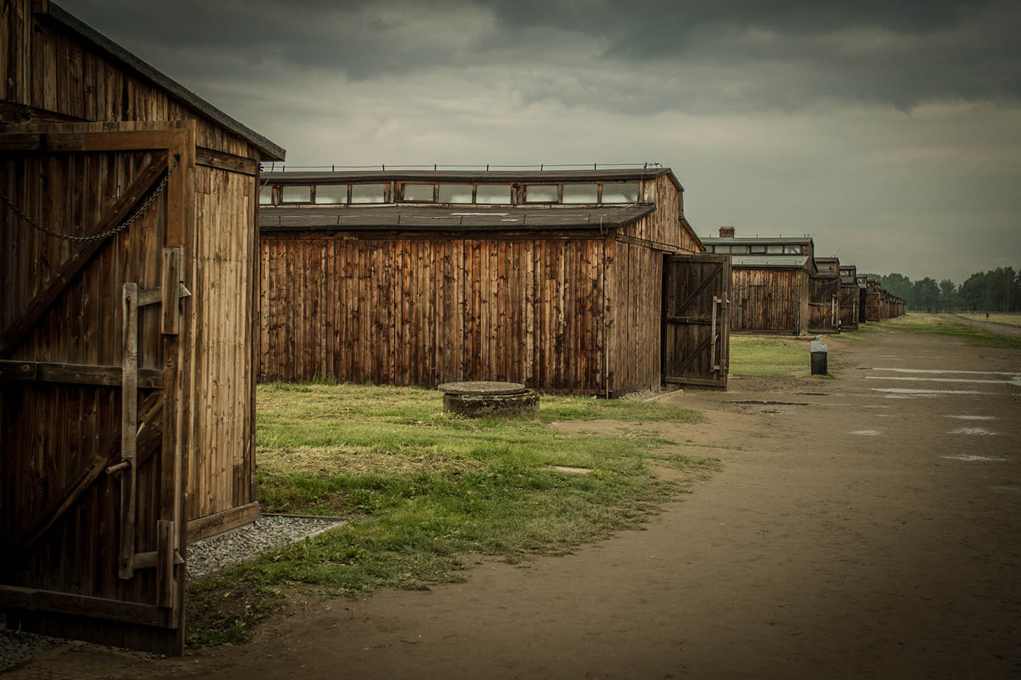 Baracke houses at the concentration Camp Birkenau / Konzentrationslager Baracke