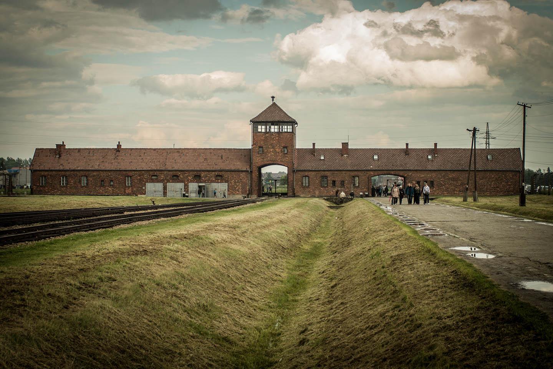 Birkenau concentration Camp entrance building/ Konzentrationslager Gebäude Eingang