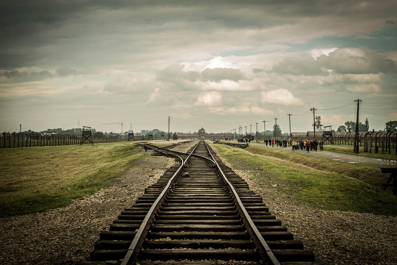 Birkenau concentration Camp railway train/ Konzentrationslager Zug Schiene