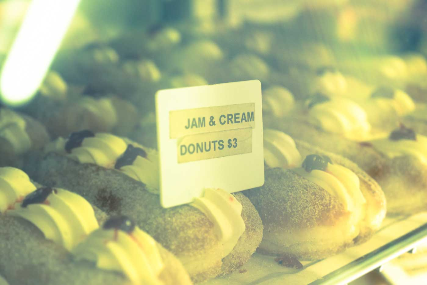 Jam and Cream Donuts Coral Bay Resort Bakery Western Australia
