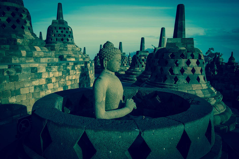 Tempel Borobudur Java Indonesia Buddha Stupa Stupas / Tempelanlage Indonesien