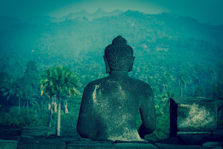 Tempel Borobudur Java Indonesia Stupa Buddha Stupas Budda/ Tempelanlage Indonesien
