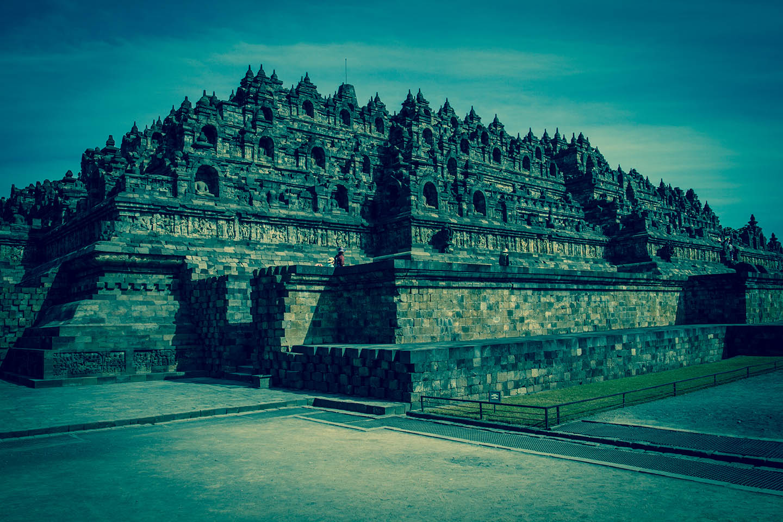 Tempel Borobudur Java Indonesia Levels Kāmadhātu Rupadhatu Arupadhatu/ Tempelanlage Indonesien