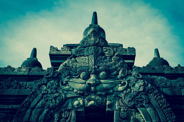Tempel Borobudur Java Indonesia / Tempelanlage Indonesien