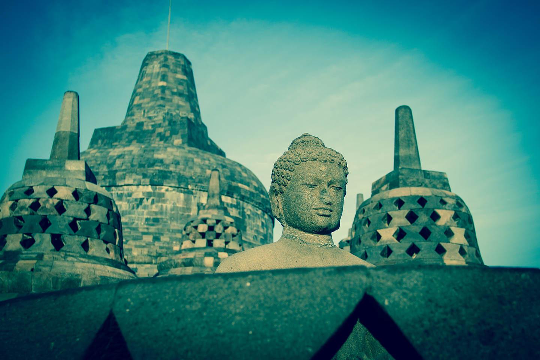 Tempel Borobudur Java Indonesia Yogyakarta World Heritage UNESCO / Tempelanlage Indonesien