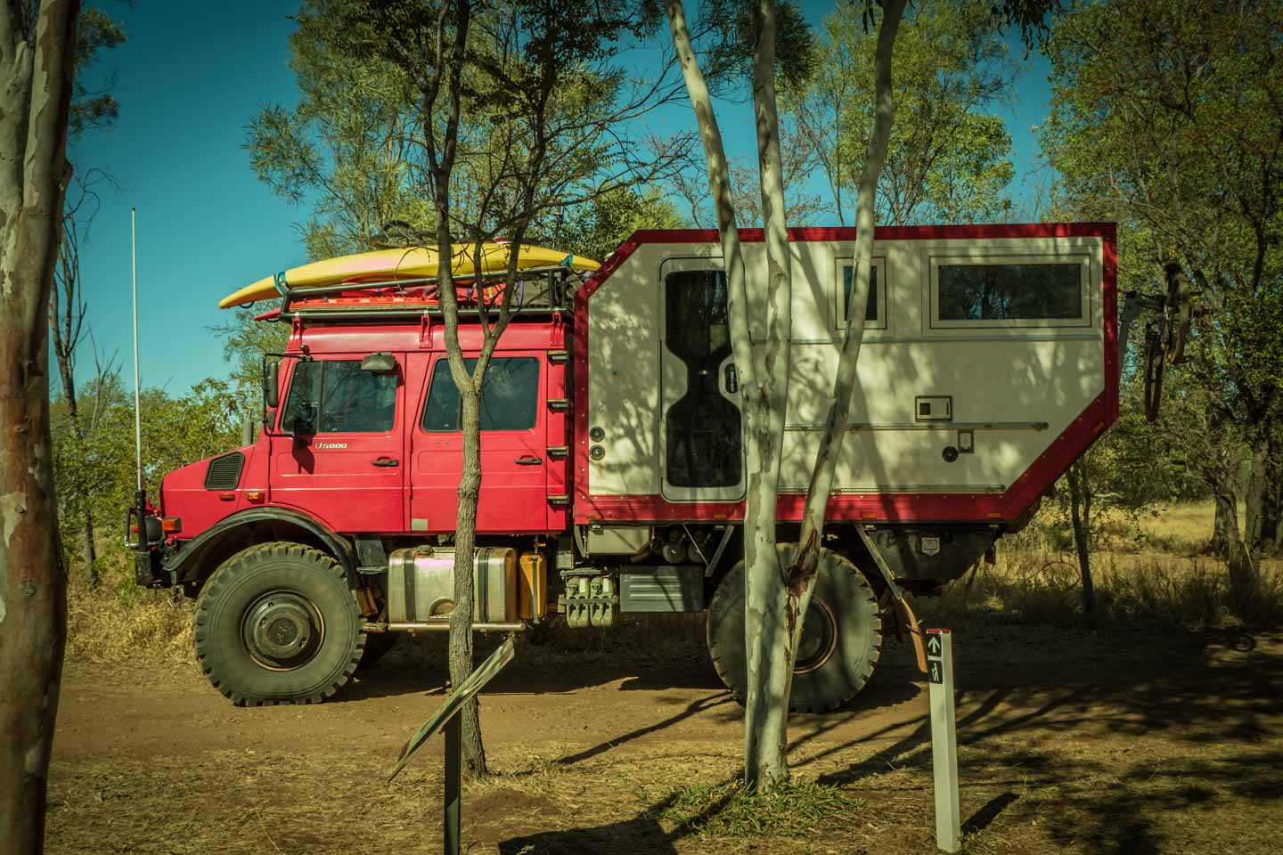 Unimog U5000 custom built camper by Mercedes-Benz at Purnululu National Park Western Australia