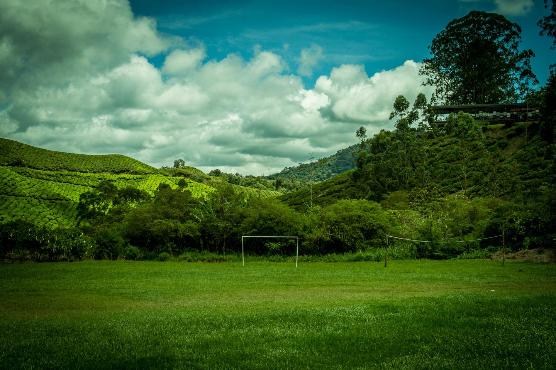Football soccer field at Cameron Highlands Malaysia