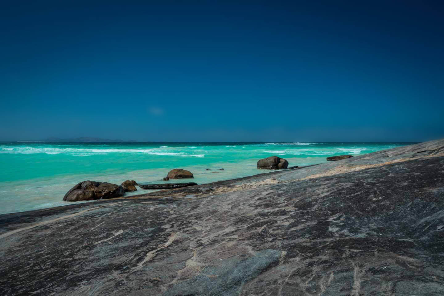 Camping right on the water at Cape Arid National Park Western Australia
