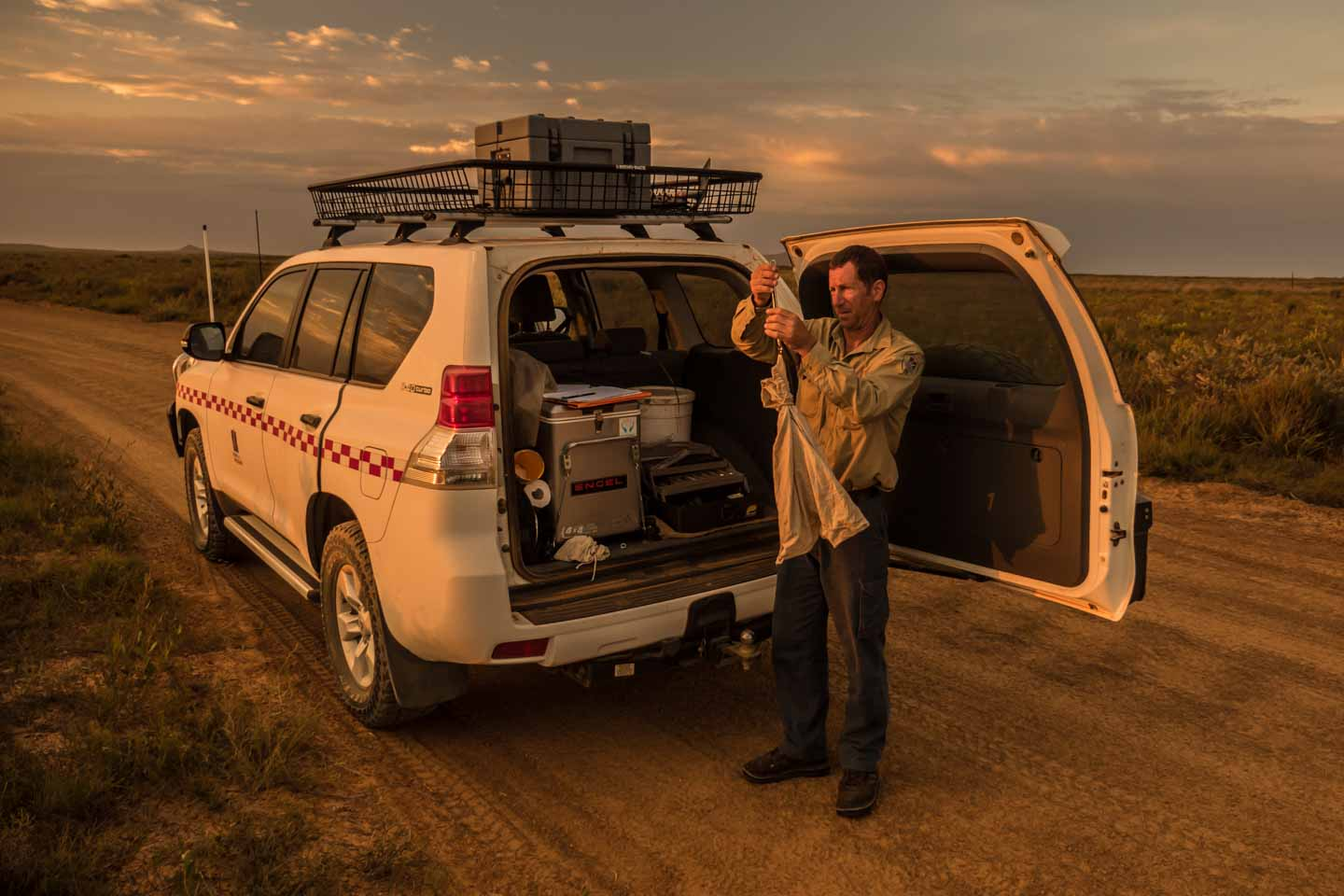 Stephen Butler from Parks and Wildlife in Cape Arid National Western Australia