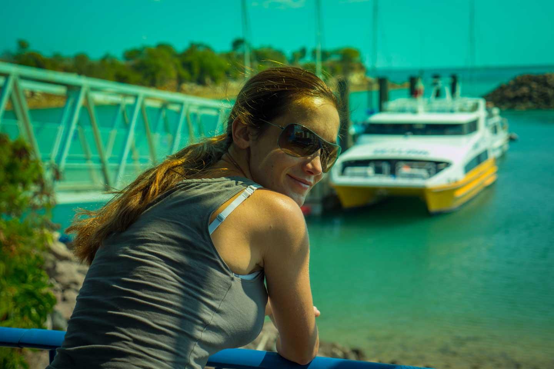 Anita Kisiala at Darwin Ferry Terminal Australia Northern Territory