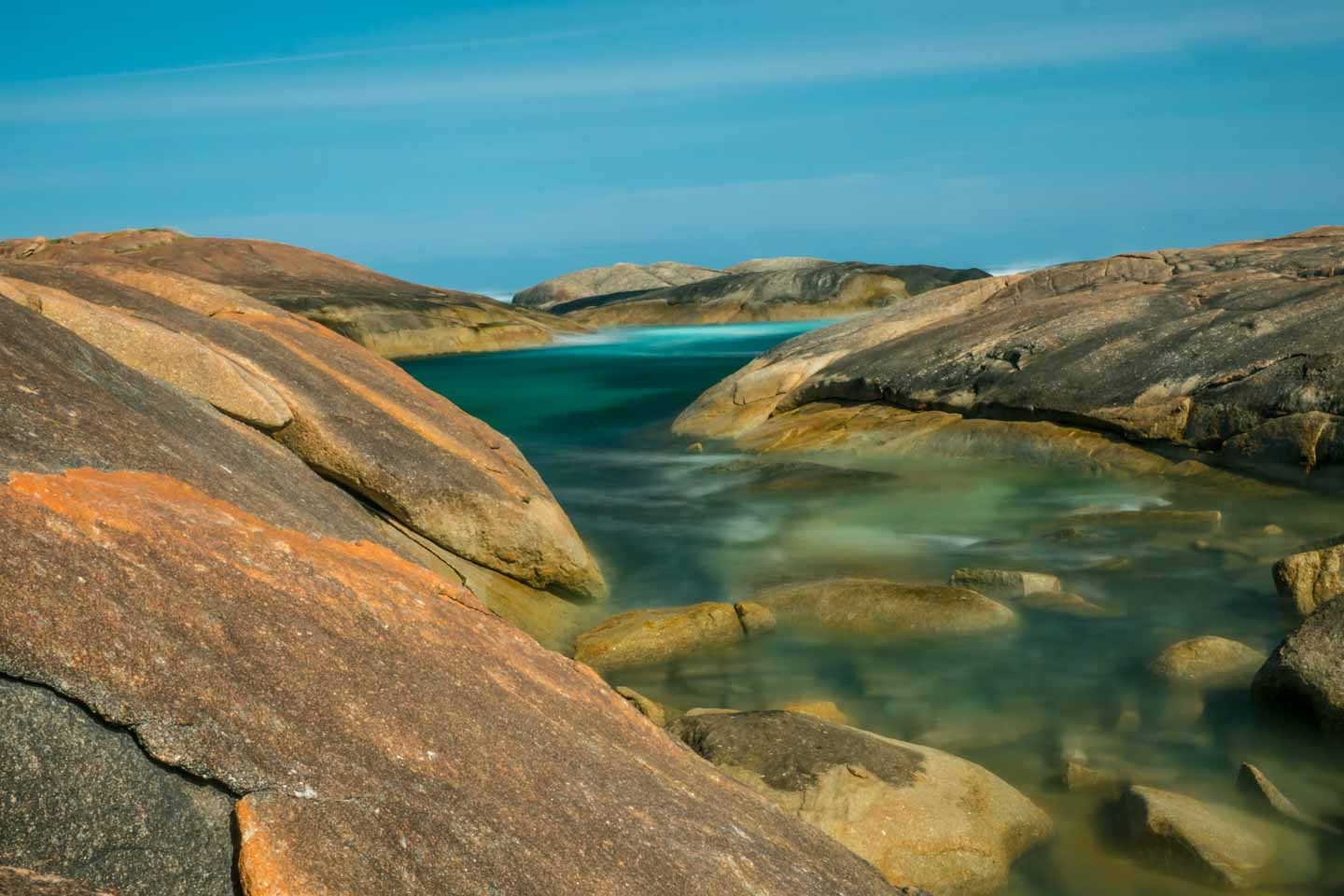 Rock pool in-between Elephant Rocks and Greens Pool in William National Park Denmark Western Australia
