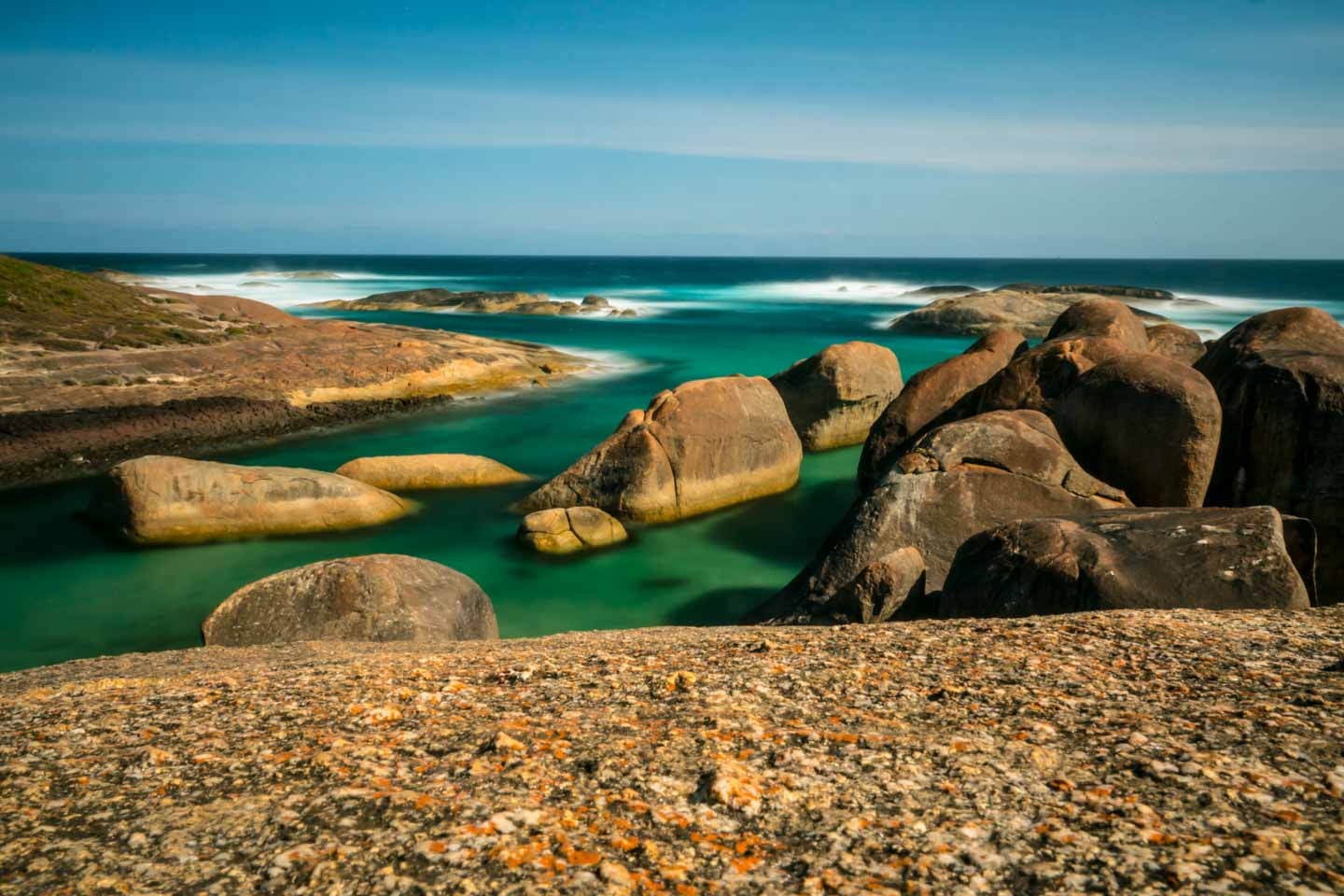 Herd of Elephants on Elephant Rocks beach in William National Park Denmark Western Australia