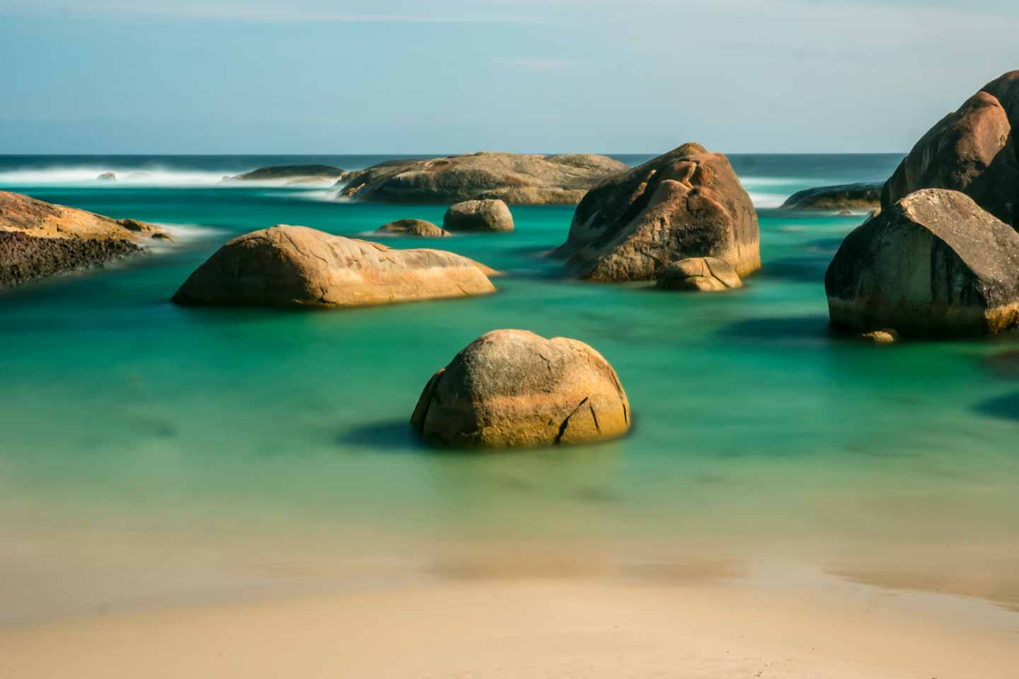 Swim beach at Elephant Rocks close to Denmark Western Australia