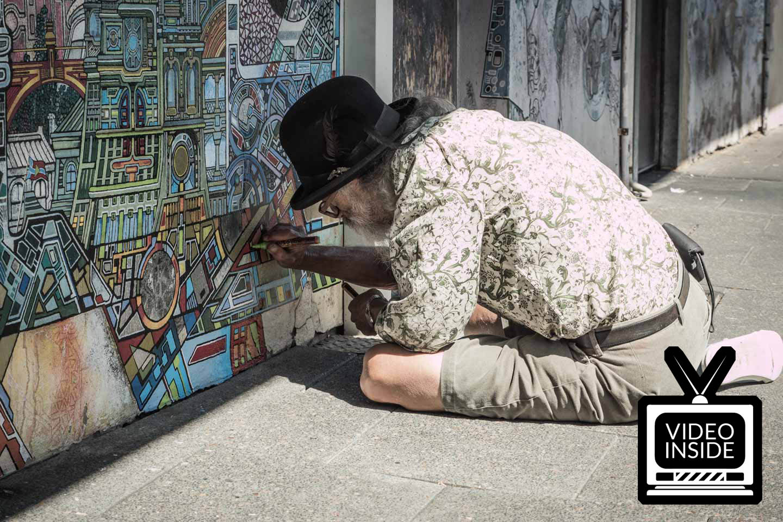 Horatio Birdbath Fremantle street artist Perth Western Australia
