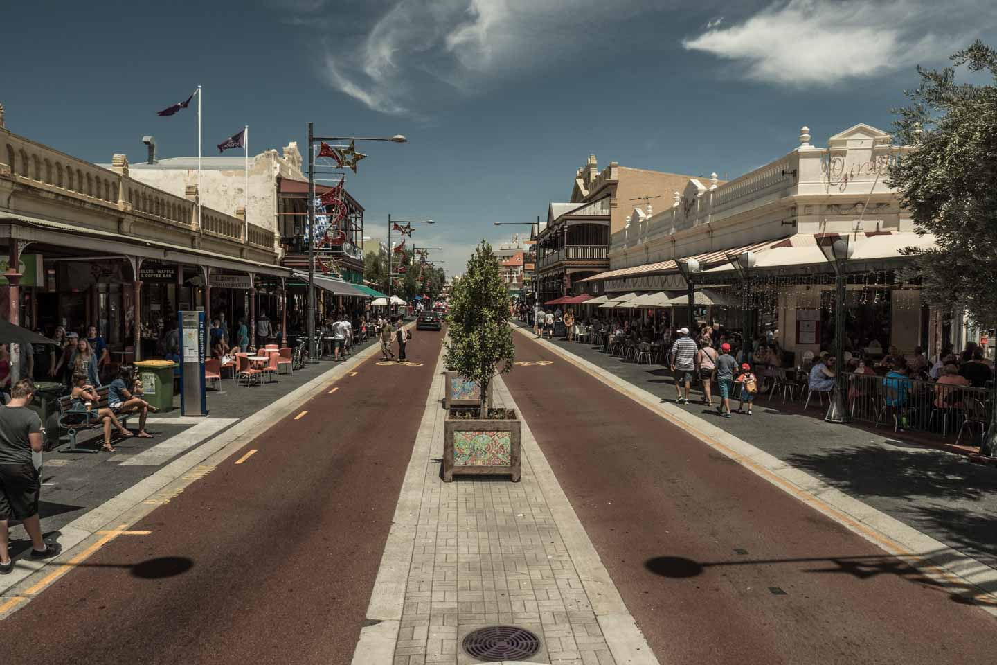 Cappuccino Strip downtown Fremantle city Perth Western Australia