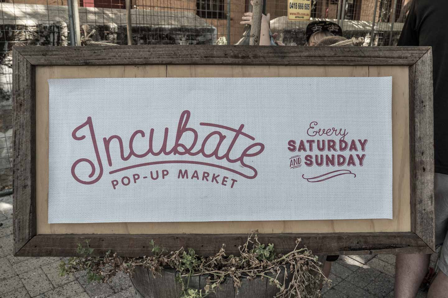 Incubate Pop-up Market at Fremantle MarketsPerth Western Australia