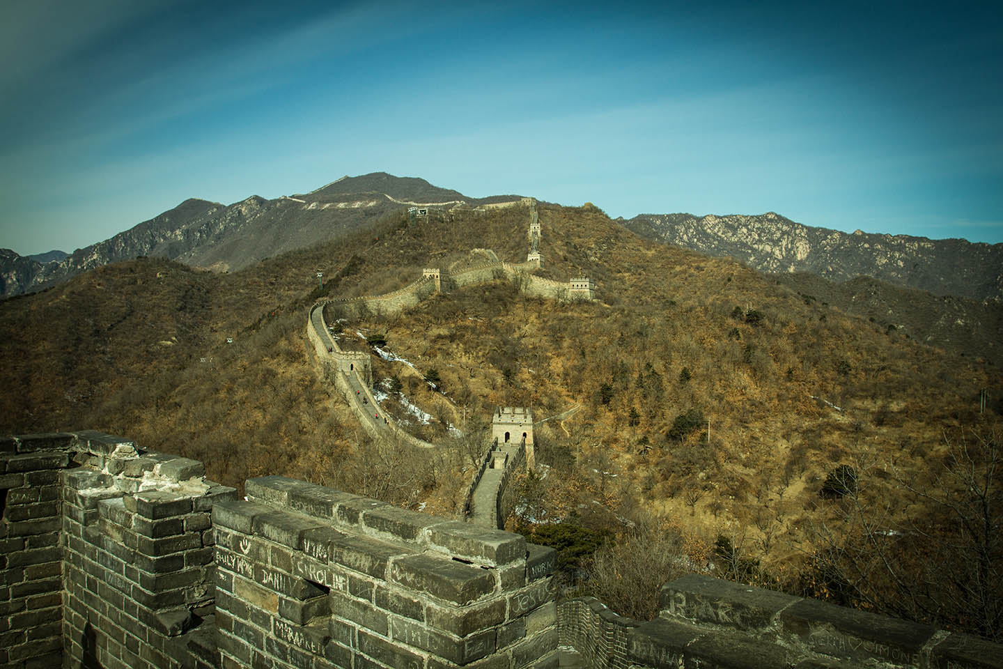 The endless Great Wall of China / Scheinbar endlose chinesische Mauer