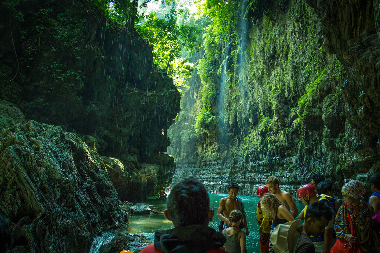 Green Canyon Pangandaran Java Indonesia non swimmer / Indonesien Nichtschwimmer