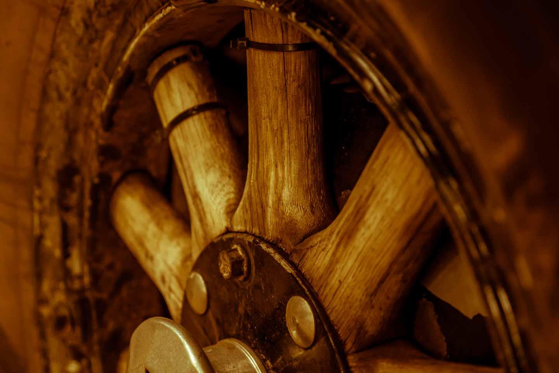 Heidi Hetzer Hudson wooden rim and rubber old-timer tyre