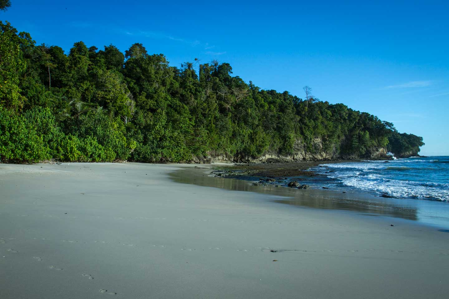 Beach and rainforest at Nusa Kambangan Java Indonesia
