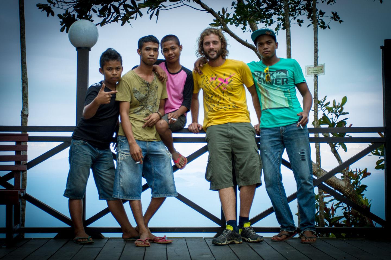 Nico Sebastian Hopp hitchhike in Lahad Datu, Borneo, Sabah, Malaysia