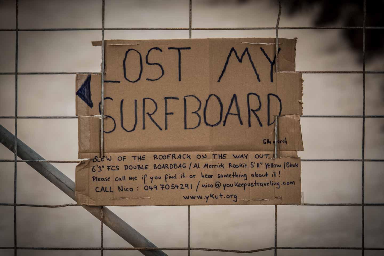 youkeepustraveling lost my  surfboard an Al Merrick Rookie in Cactus Beach Ceduna South Australia
