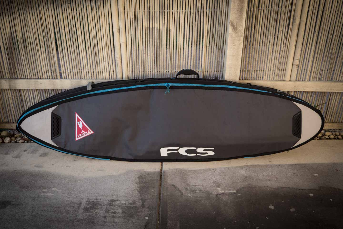 youkeepustraveling lost my Al Merrick Rookie surfboard with FCS Doubel Travel Cover board bag