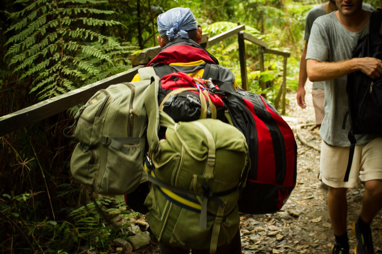 Sherpa carry backpack Mount Kinabalu Sabah Borneo Malaysia