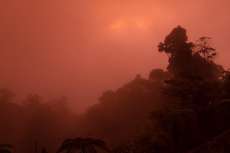 Kinabalu Mountain Lodge sunset view Sabah Borneo Malaysia