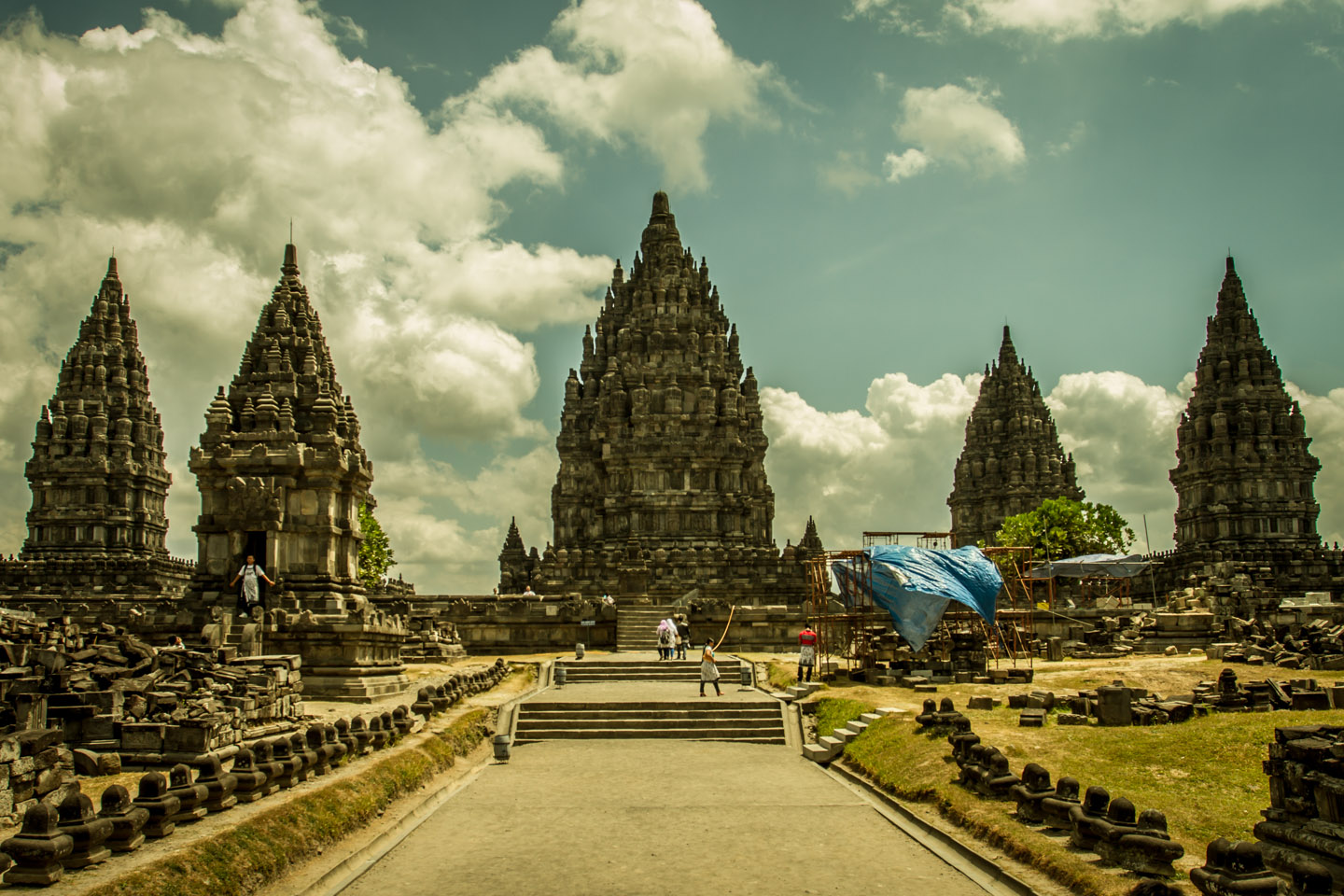 The front of Prambanan Hindu Temple Java