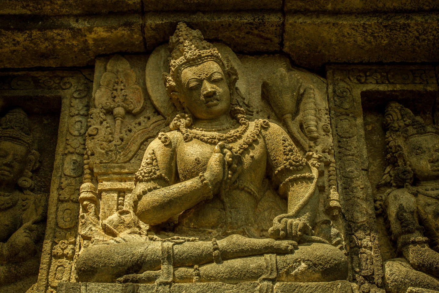 Hindu statue at Prambanan Temple Java
