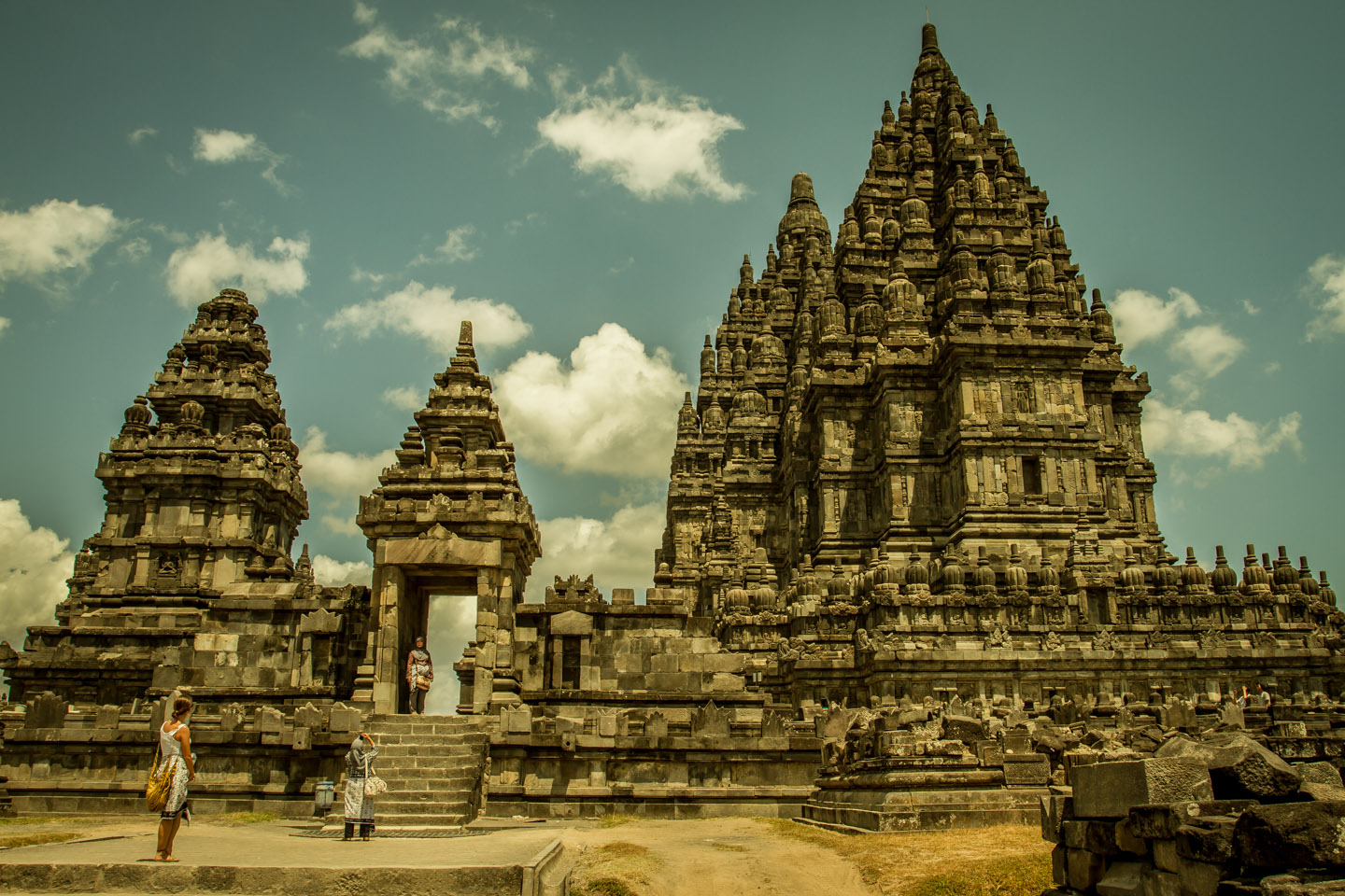 Side entrance to the Prambanan Hindu Temple Java