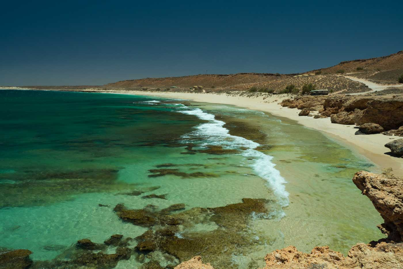 Panorama Red Bluff Surf Spot Western Australia surfing big wave Ningaloo Reef