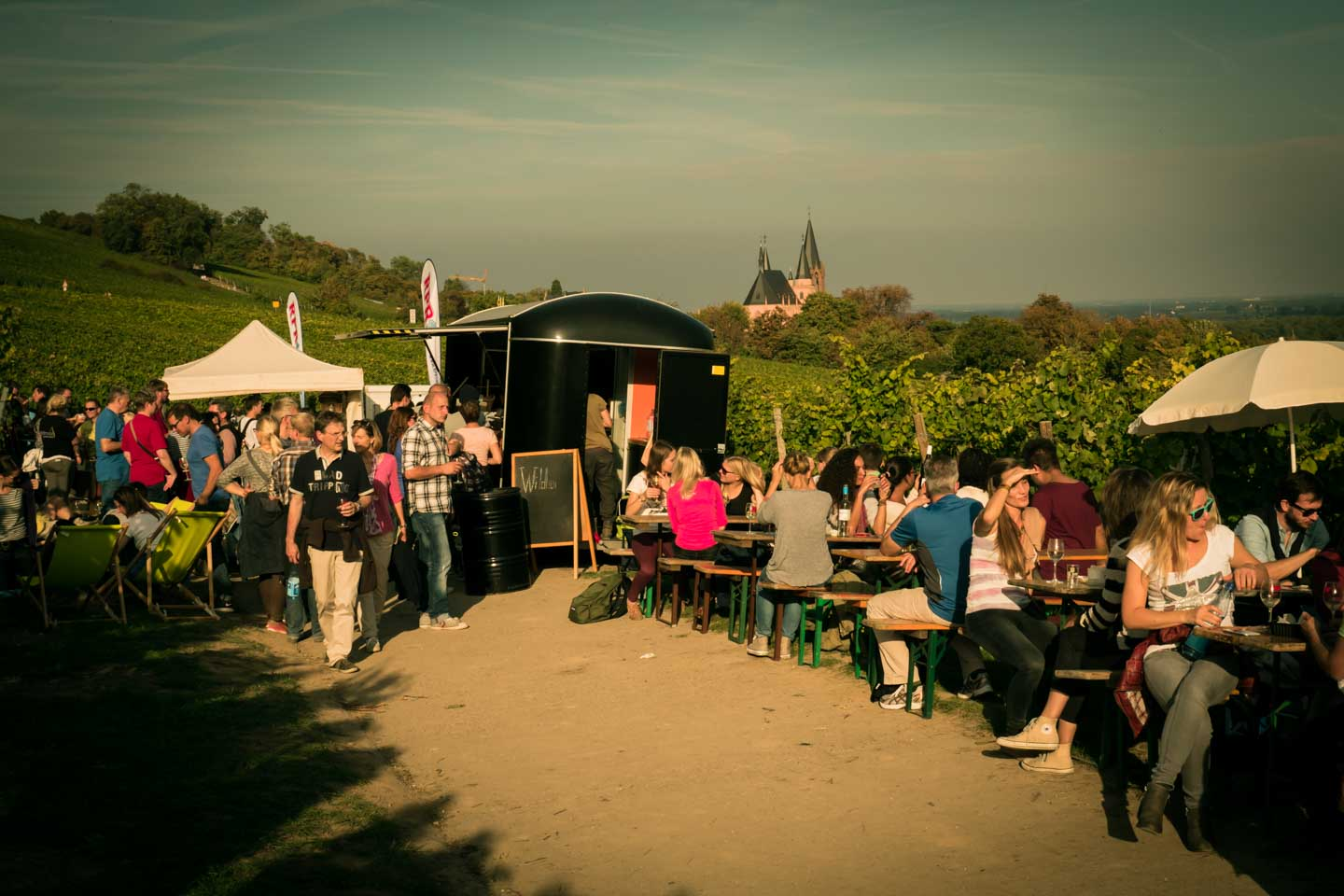 Food booth at the Gourmet Hike / Schlemmerwanderung in Oppenheim 2015