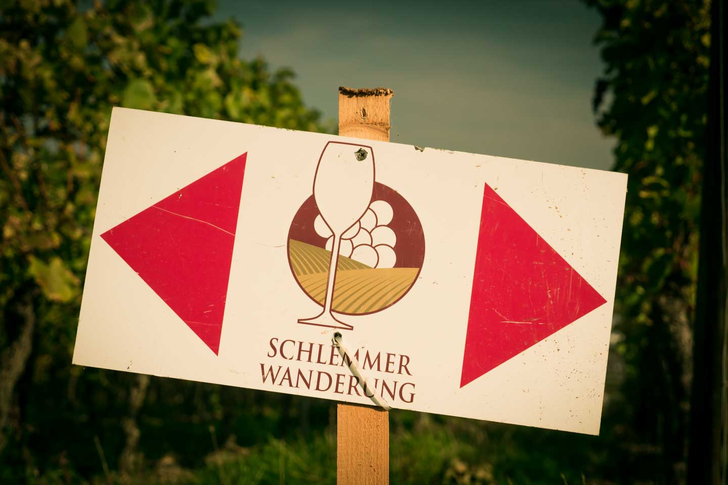 Gourmand Hike Schlemmerwanderung Oppenheim sign post