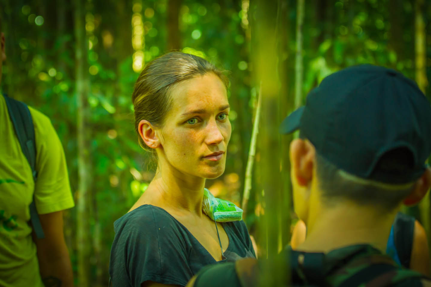 Anita Kisiala with independent jungle track guide Eru in Bukit Lawang Sumatra